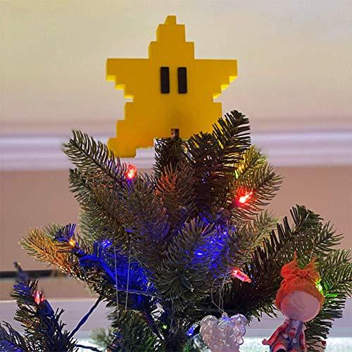 NLRHH Pixel Stern Weihnachtsbaum Topper 3D Sternform VE Topper Dekor for Weihnachtsbaum Peng (Color : 1pc)