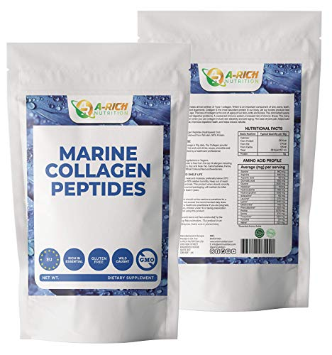 Marine Collagen Peptides Powder Type 1 Wild-Caught Fish Anti Aging, Wrinkles, Beauty Powder 200g, 250g, 300g, 400g, 1000g (400g)