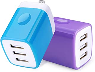 Charger Port,USB Wall Charger,HopePow 2Pack 3.1A Multi USB Adapter Wall Charging Plug Block Compatible iPhone 11 Pro Max XS XR X 8 7, Samsung Galaxy S10 S9 S8 S7 A90 A80 A50 A10 A20 Note 10 9 8, LG G8