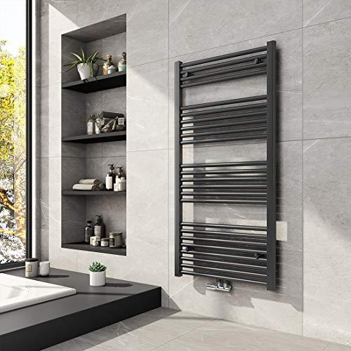 Meykoers Badheizkörper 1200x600mm Mittelanschluss 679 Watt Anthrazit, Handtuchwärmer Handtuchtrockner Design Heizkörper für Bad Heizung Radiator