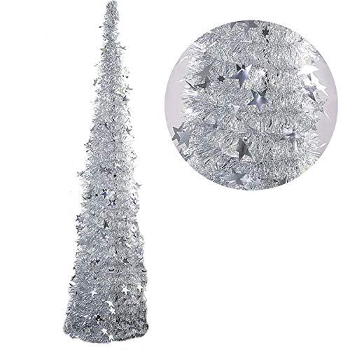 Sapins de Noël Arbre de Noêl Sapin de Noël Artificiel 150cm PVC Christmas Tree pour Fête Noël Vacances Décorations(Sapin de Noël Vert 1, 150cm)