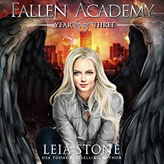 Fallen Academy: Year Three                   Written by:                                                                                                                                 Leia Stone                               Narrated by:                                                                                                                                 Vanessa Moyen                      Length: 5 hrs and 31 mins     9 ratings     Overall 4.1
