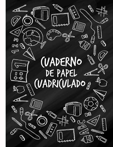 Cuaderno de Papel Cuadriculado: Cuaderno a4 Cuadriculado sin espiral 4x4 con 120 hojas ideal para estudiantes de primaria o bachillerato.