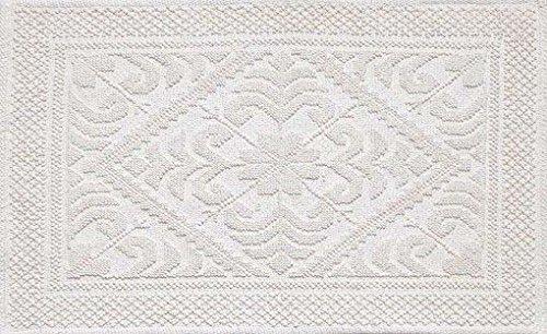 Confezioni.Giuliana Tappeto Cotone Stile SARDO Avorio, Ingresso, Cucina, Camera da Letto (50x80)