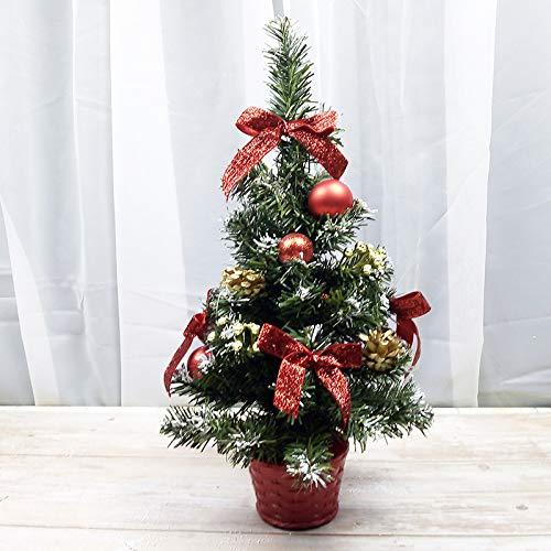HTHJA Mini Árbol De Navidad, Pino Decoración De Navidad Artificial, Pequeño Árbol...