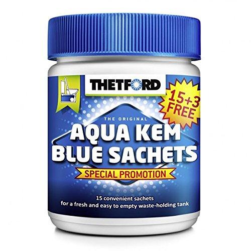 Thetford 8710315021813 Aqua KEM Blue Sachets 18 Pack de 6