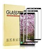 BOBI Protector de Pantalla para Samsung Galaxy Note 9 Cristal Templado, Curvado Completa Cobertura, 9H Dureza, Anti-Arañazos, Alta Sensibilidad Vidrio Templado [2 Piezas]
