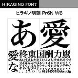 OpenType ヒラギノ明朝 Pr6N W6 [ダウンロード]