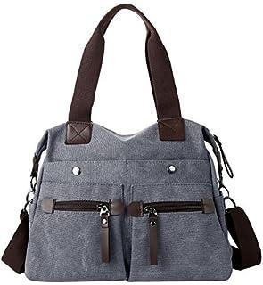 dd798a9924f8 Eshow Women Canvas Hobo Handbags and Purse Shoulder Bag Cross-Body Bag  Messenger Bag mom