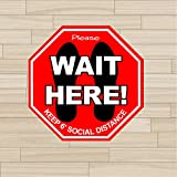 24 Pack of Social Distancing Floor Stickers / Decals from Classic- Help keep your customers and employees safe with these social distancing floor signs High Quality Vinyl Floor Sticker / Decal with Matte Finish Laminate Maintain Social Distancing by ...