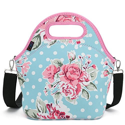 iColor Large Neoprene Lunch Bag with Cutlery Kit & Removale Shoulder Strap $8.49 (50.03% OFF)