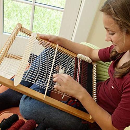 Heresell Telaio in legno per arazzi lavorati a mano, strumento per tessere abiti fai da te artigianali, kit di utensili per lavori a maglia
