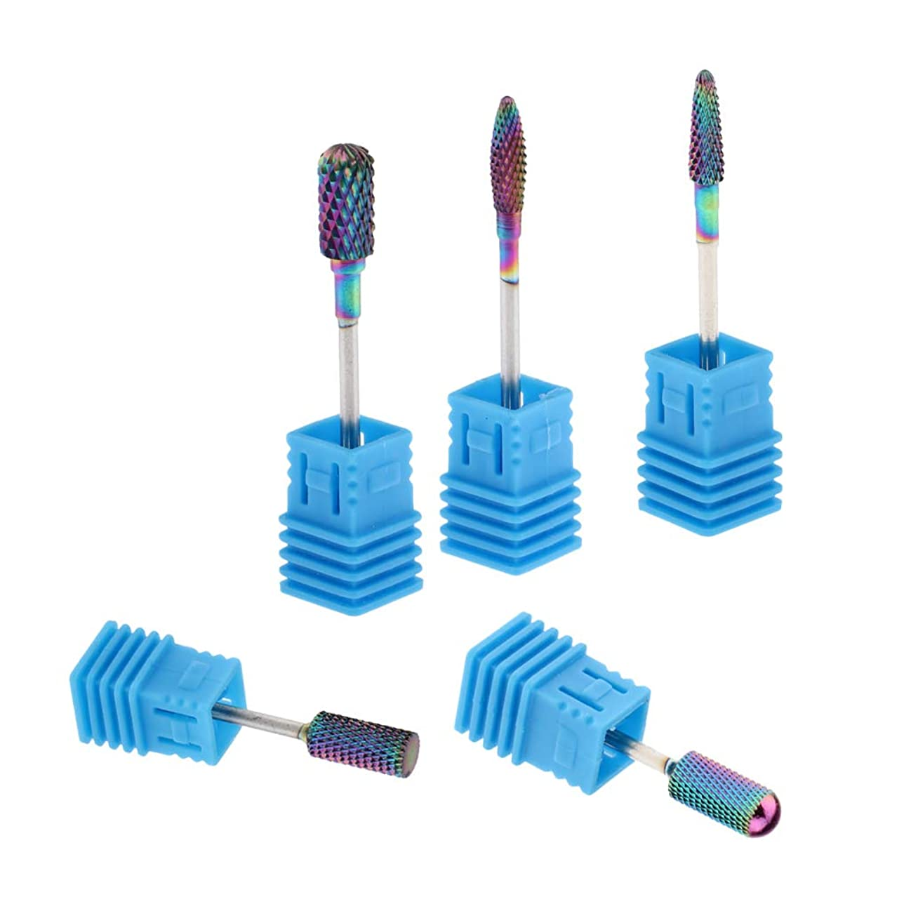 厳密に協力する休日T TOOYFUL 陶磁器ドリルビット ネイルマシンビット 研削ネイル ネイルドリルビット ネイルマシーン用ビット 5個入