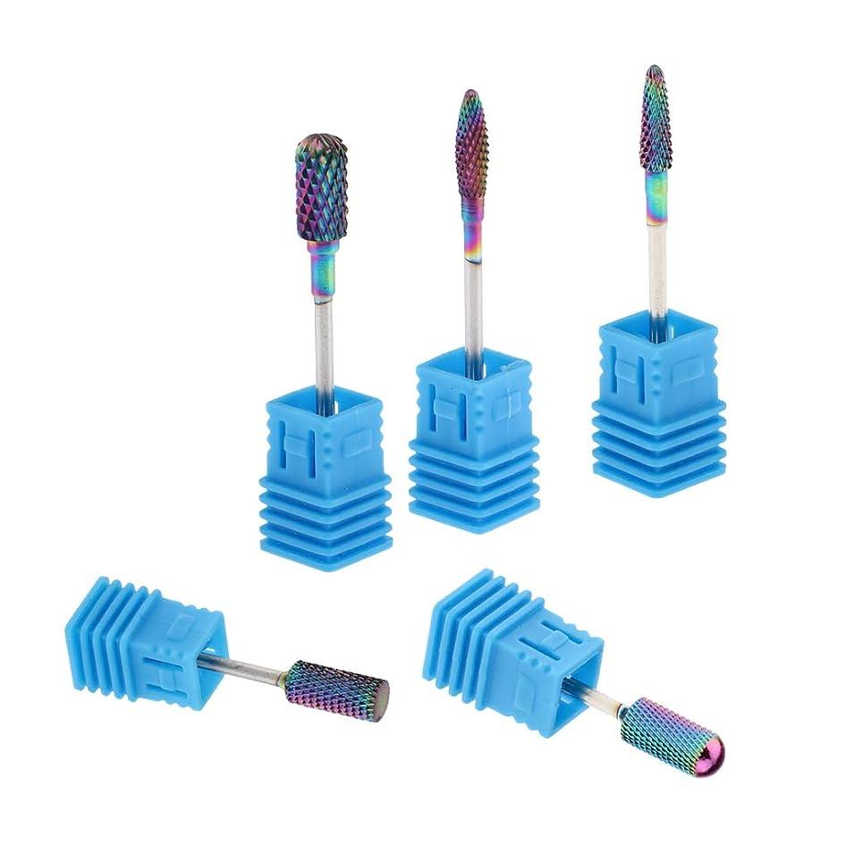 レイア嫌な強要T TOOYFUL 陶磁器ドリルビット ネイルマシンビット 研削ネイル ネイルドリルビット ネイルマシーン用ビット 5個入