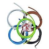 Verdrahtungssatz 10qmm 5 Farben je 2 Meter und 25 isolierte Aderendhülsen Kabelbaum für Zählerschrank und Elektro Verteiler