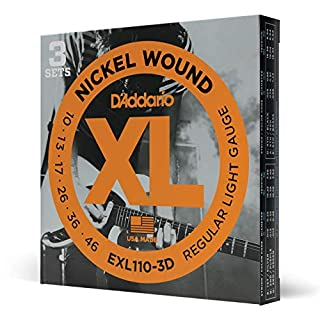 D'Addario EXL110-3D Nickel Wound Electric Guitar Strings, Regular Light, 10-46, 3 Sets (B000EEJ91I) | Amazon price tracker / tracking, Amazon price history charts, Amazon price watches, Amazon price drop alerts