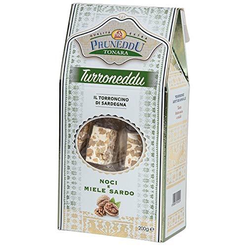 Torroncini mit Walnüssen und Honig aus Sardinien, 200g, Geschenkverpackung, weißer Nougat, Torrone, Pruneddu Torronificio Artigianale