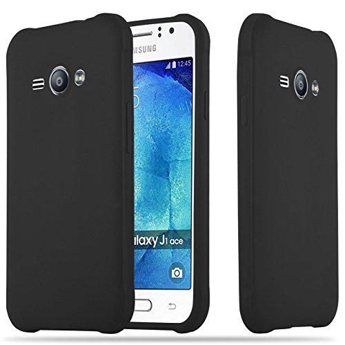 Cadorabo Funda para Samsung Galaxy J1 Ace en Candy Negro - Cubierta Proteccíon de Silicona TPU Delgada e Flexible con Antichoque - Gel Case Cover Carcasa Ligera