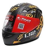LS2 FF391 Unisex Full Face Helmet (Orange_Large)