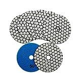SHDIATOOL Diamante Almohadilla de Pulido 7 Piezas Grano 50 para Pulir en Seco Mármol Granito Piedra Cerámica Dia 100mm/4 Pulgadas