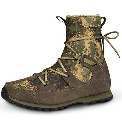 Härkila wasserdichte Jagdstiefel Roebuck Hunter Sneaker für die Pirschjagd in AXIS MSP® Forest green - Leise Sneaker für die Jagd mit HWS® Wasserschutzmembran, Größe:47