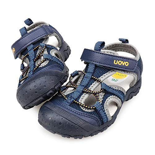 UOVO Boys Sandals Kids Sandals Hiking Athletic Closed-Toe Beach Summer Sandals for Boys Quick-Drying Breathable (Navy Blue5, numeric_12_point_5)