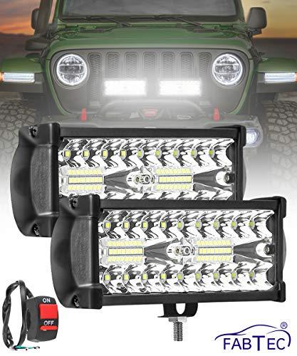 FABTEC Car LED Focus Beam Light And Flood Light Off-Roading for All Cars Bar light (36 LED 7 INCH)