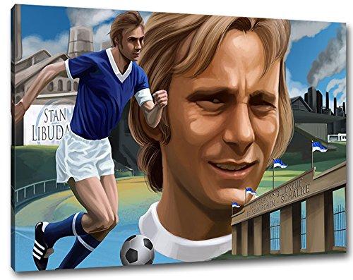 Ultras Schalke Gelsenkirchen Format: 60x40, Bild auf Leinwand XL, fertig gerahmt