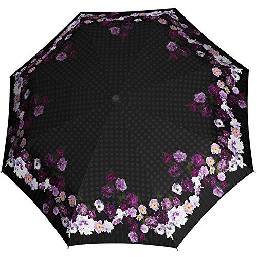Knirps Regenschirm Damen Taschenschirm Large Duomatic Blooming - Blooming Amethyst