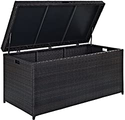 Crosley Furniture Palm Harbor Outdoor Wicker Storage Bin - Brown