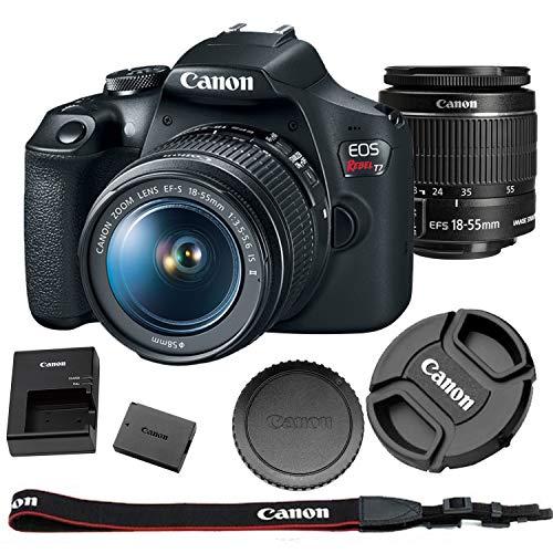 Canon EOS Rebel T7 + 18-55mm f/3.5-5.6 is II Kit | 24.1MP APS-C CMOS Sensor| DIGIC 4+ Image Processor| 3.0
