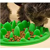 Vofo Slow Pet Feeder Anti-Choke Pet Bowl for Feeding Dogs & Cats - Green(25 18cm)