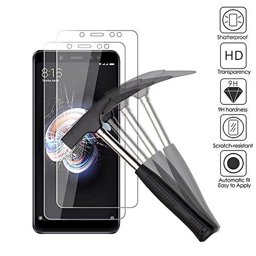 ANEWSIR [2 Pack Protector de Pantalla para Xiaomi Redmi Note 5 / Redmi Note 5 Pro, Cristal Templado para Xiaomi Redmi Note 5 Pro/Xiaomi Redmi Note 5 Ultra-Transparente, Resistente a Arañazos.