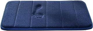 EVELTEK 天然素材超強吸水滑り止めマット40x60cm(ブルー)