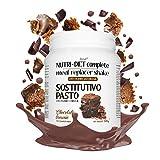 Sustitutivo de comidas NUTRI DIET complete | sabor a brownie de chocolate | 500g, 14 comidas completas | ricas en vitaminas y minerales