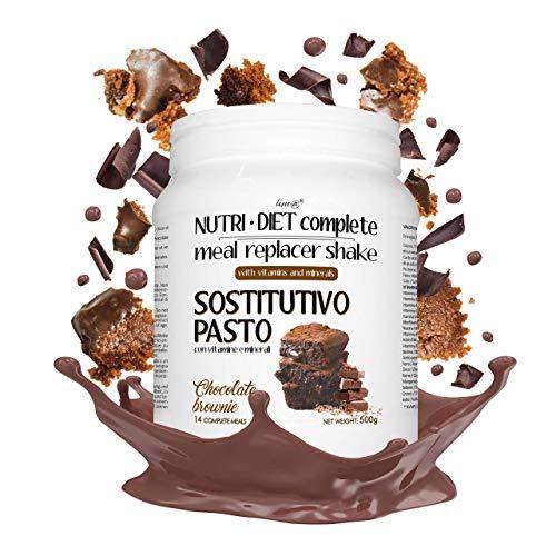 Sustitutivo de comidas NUTRI DIET complete   sabor a brownie de chocolate   500g, 14 comidas completas   ricas en vitaminas y minerales