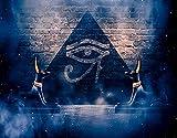 PANILUR DIY 5D diamante pintura por kits de números Anubis del antiguo Egipto (Dios de la muerte) oscuro fondo egipcio abstracto, imágenes de bordado de diamantes de imitación de cristal para la deco