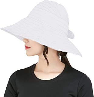 0a5f7a0bcb7 Summer Wide Brim Foldable Packable Sun Blocking Hat Floppy Beach Sand Pool  UPF 50+ Visor