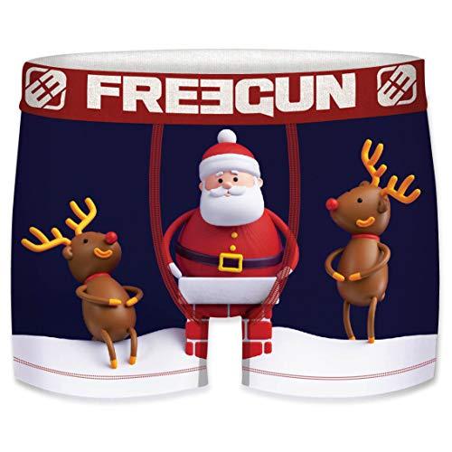 Freegun - Calzoncillos para niños, colección de Navidad Père Noël Rennes 8-10 Años