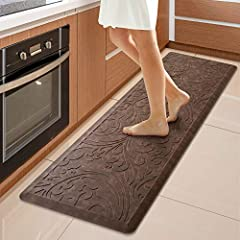 COMFORT--- The KMAT anti-fatigue kitchen floor mat provides thick, cushioned support to help improve circulation and posture and to ensure that you are able to stand comfortably while working in the kitchen or at any work station. Perfect for hair st...