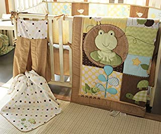 green frog baby bedding