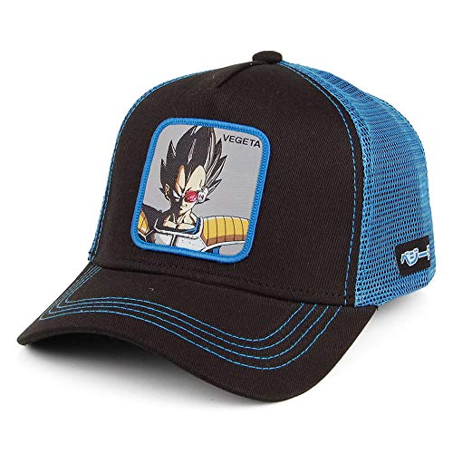 Capslab Gorra Trucker Dragon Ball Z Vegeta Negro-Azul - Ajustable