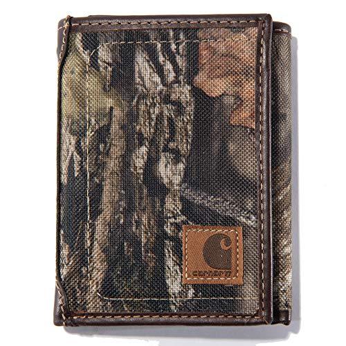 Carhartt Men's Trifold Wallet, Mossy Oak Break-Up Camo, One Size