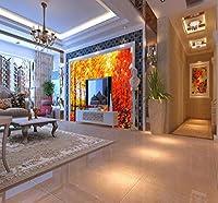 Wkxzz 壁の背景装飾画 カスタム写真壁紙ホテルレストランホール壁紙カエデ森林風景画壁画リビングルーム壁紙-120X100Cm