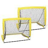 GJCrafts Portería de fútbol portátil, red de entrenamiento plegable de patio, 2 unidades, apta para niños y adolescentes (31,88 x 27,95 pulgadas)