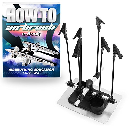 PointZero Airbrush Hobby Model Part Holder - Six Alligator Clip Stand