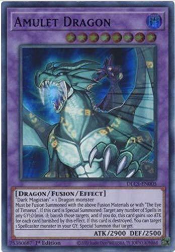 Amulet Dragon (Green) - DLCS-EN005 - Ultra Rare - 1st Edition