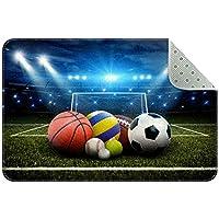 エリアラグ軽量 スタジアム内のすべてのスポーツボール フロアマットソフトカーペットチホームリビングダイニングルームベッドルーム