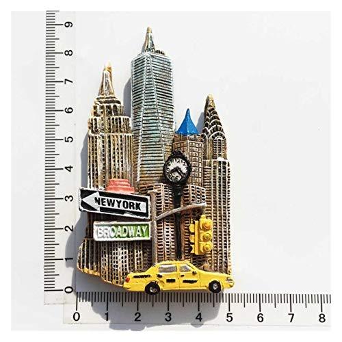 JSJJAWS Imanes Nevera United States Travel Fridge Imagnet Set La Estatua de Liberty Broadway Landmark of New York Souvenir Imán Decoración de refrigerador Regalo (Color : 4)