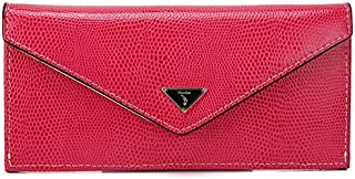 Leather Women's Wallet Leather Long Handbags Women's Fashion Handbags Waterproof (Color : Red, Size : S)